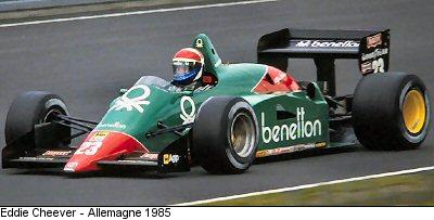 Risultati immagini per f1 1985 Eddie Cheever, Alfa Romeo 184T